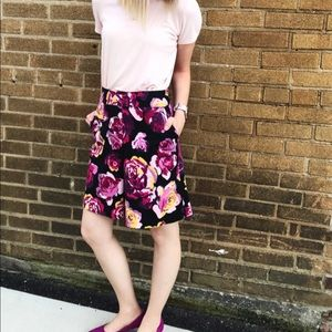 Floral Express Mid Rise Skirt.